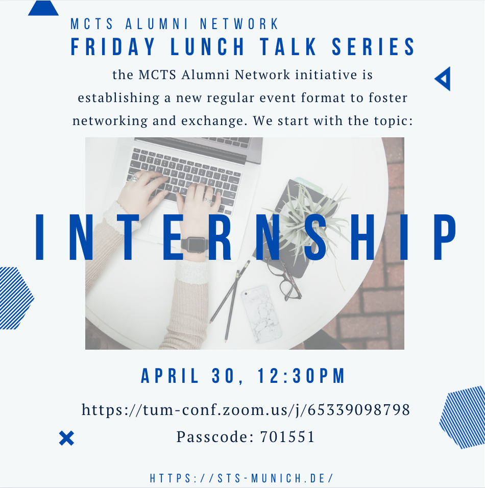 Friday Lunch Talk: Internship