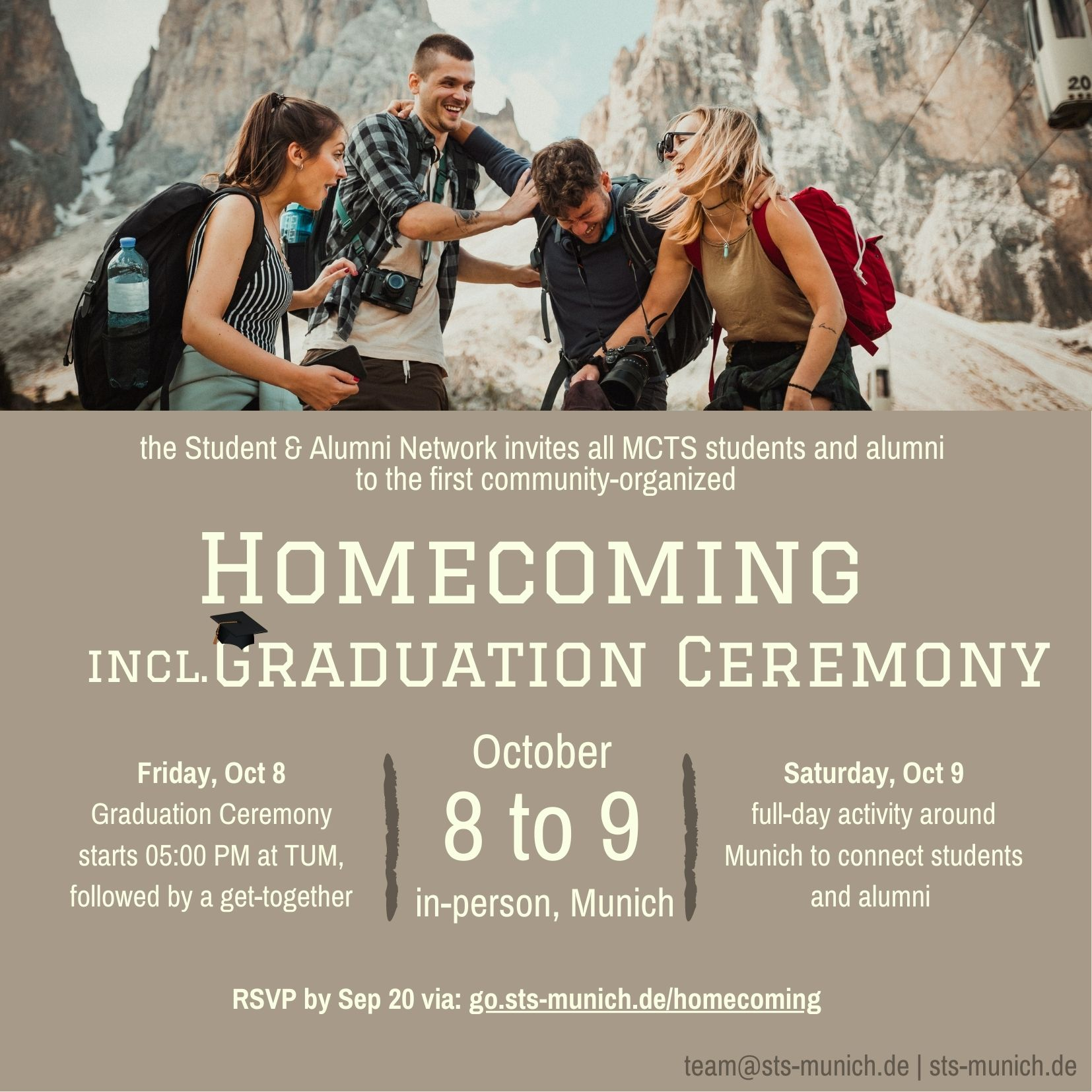 Homecoming on Oct 8-9, 2021 in Munich